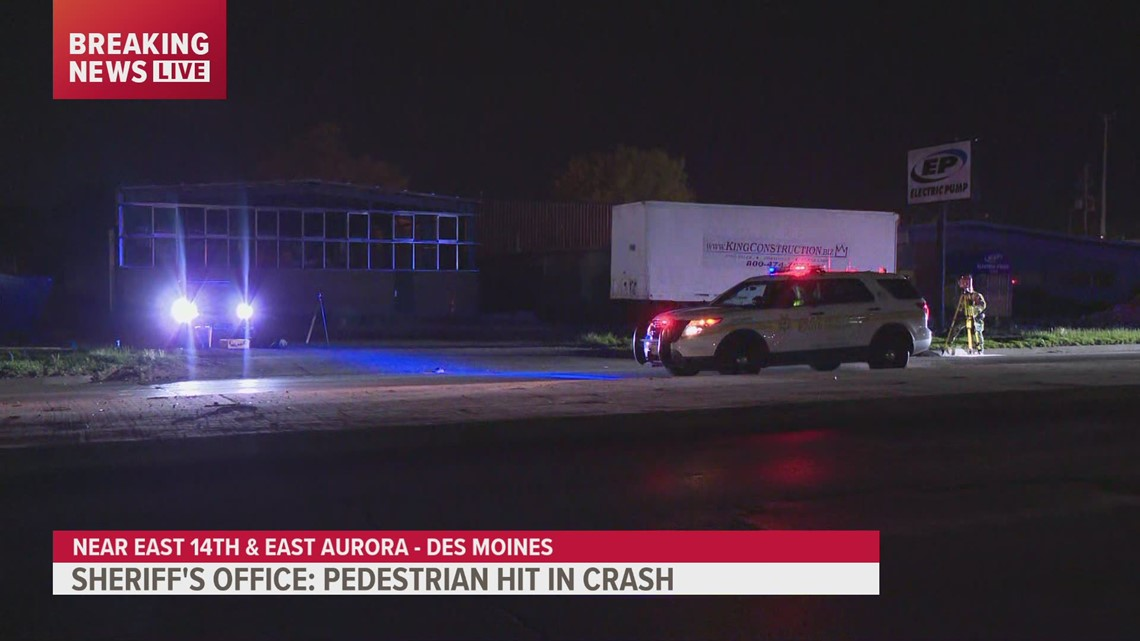 Man in critical condition after being hit by car in Des Moines Monday night
