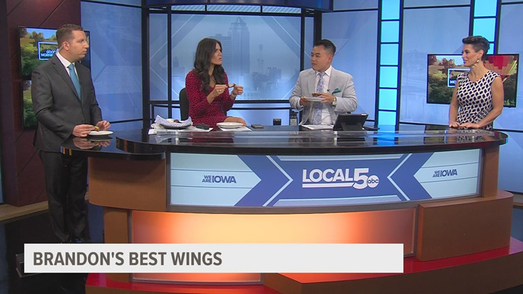 Tuesday Food, Part 2: Trying spicy wings on 'Good Morning Iowa'