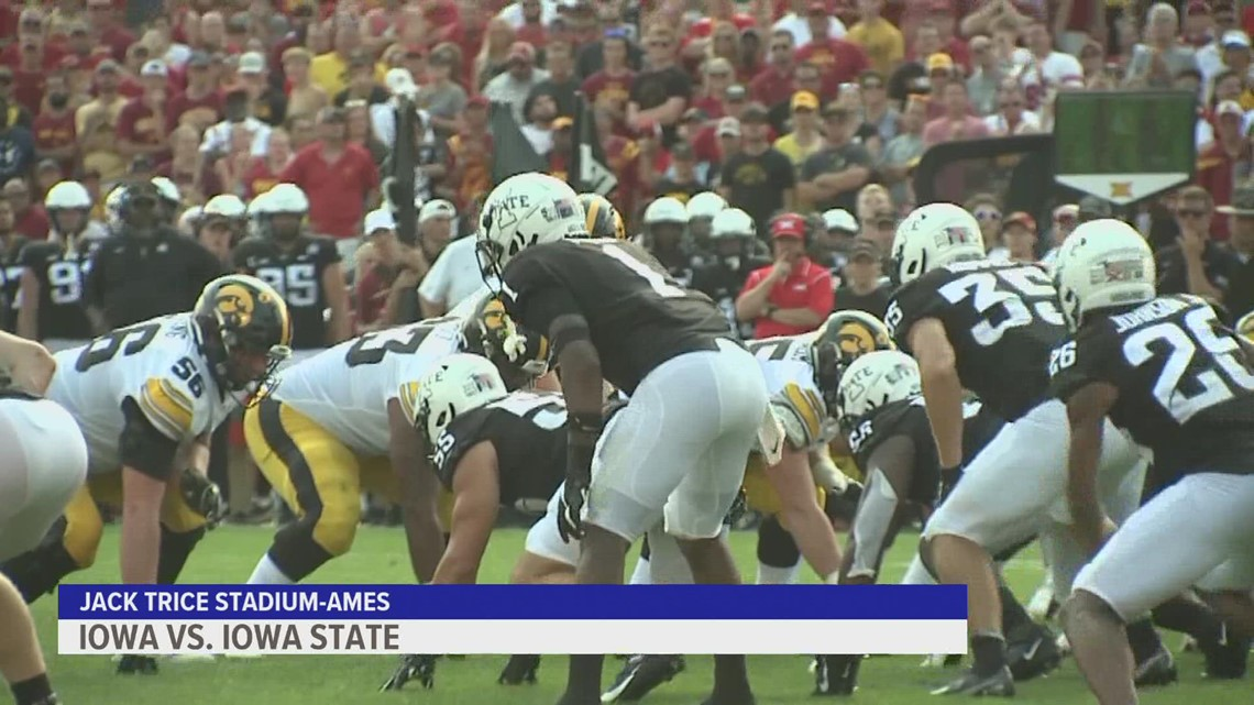 Iowa tops Iowa State 27-17 for 6th straight Cy-Hawk win