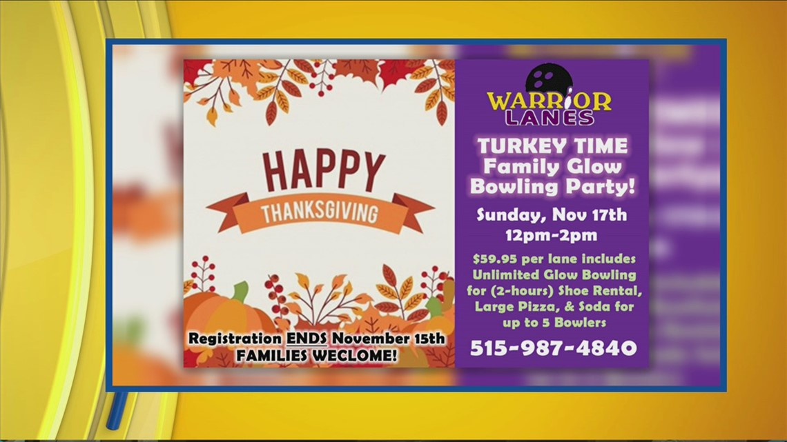 Upcoming holiday events at Warrior Lanes