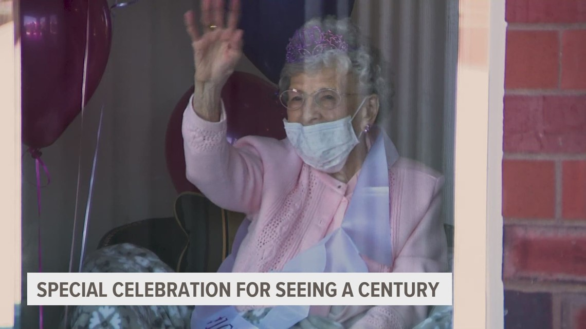 What's the secret to living 100 years? Iowa woman says 'give all the love you have'