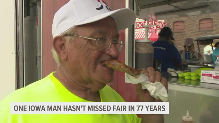Meet the Iowan who hasn't missed an Iowa State Fair in 77 years