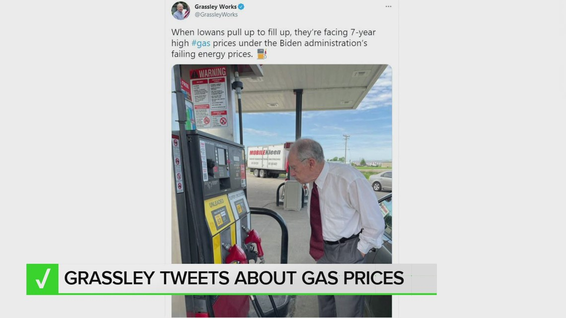 VERIFY: Are Iowans really seeing the highest gas prices in 7 years?