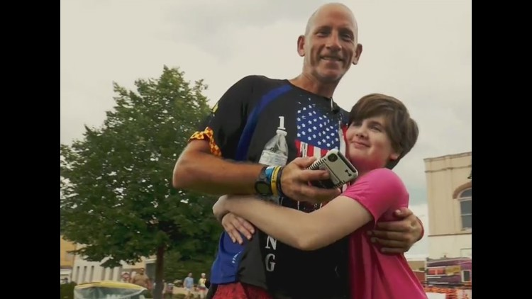 Meet the man biking—and running—RAGBRAI for a very special cause
