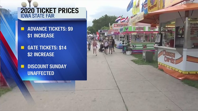 Iowa State Fair ticket prices increase