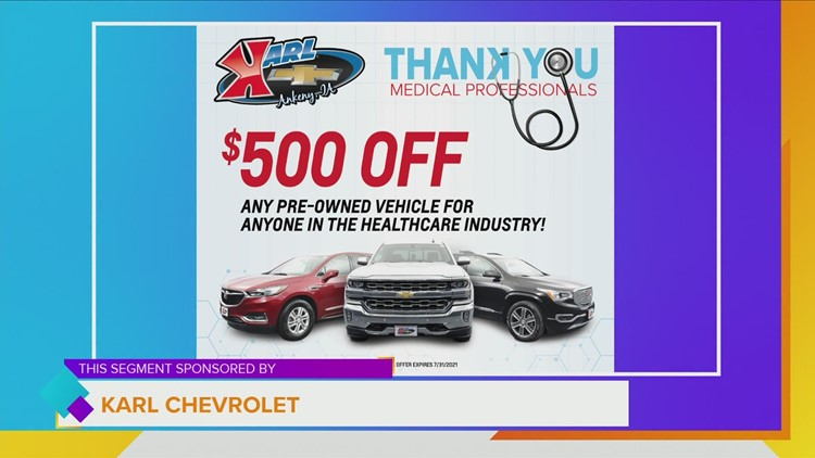 Karl Chevrolet wants to BUY YOUR quality vehicle and offers additional $500 OFF for Healthcare Workers on pre-owned! | Paid Content