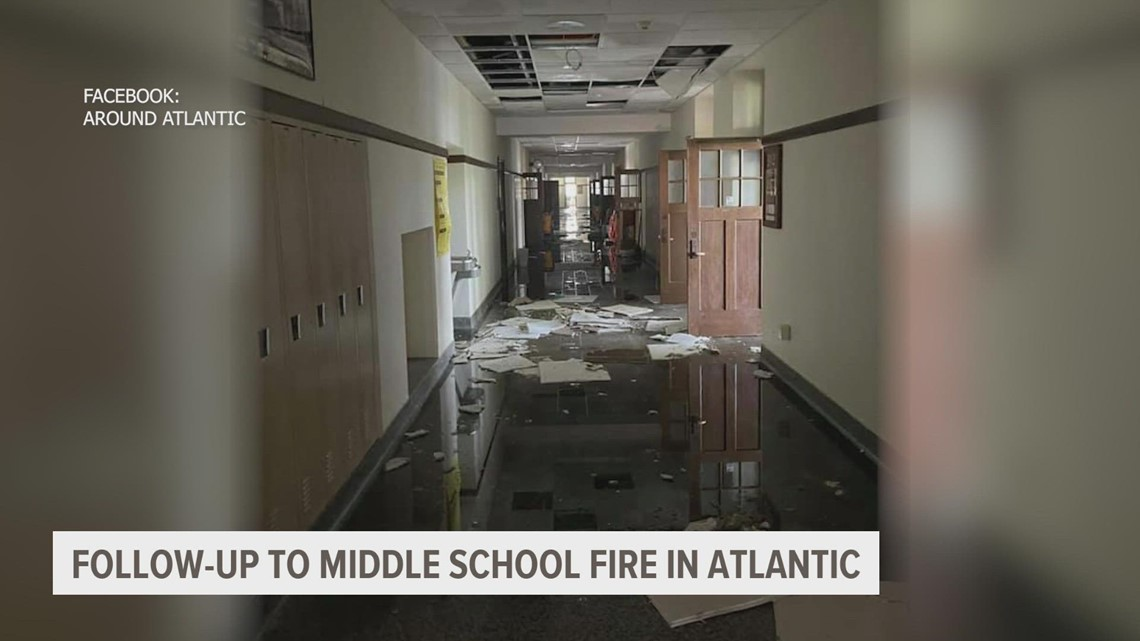 Atlantic Middle School classes start on Monday, but not in building damaged by fire