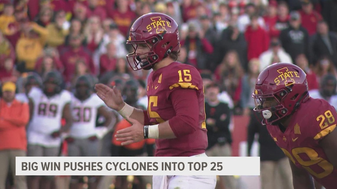 Iowa State back in AP Top 25 after win over Oklahoma State