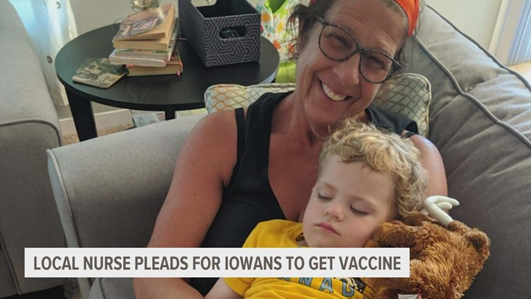 Iowa hospice nurse pleads for others to get vaccinated as another COVID-19 surge approaches
