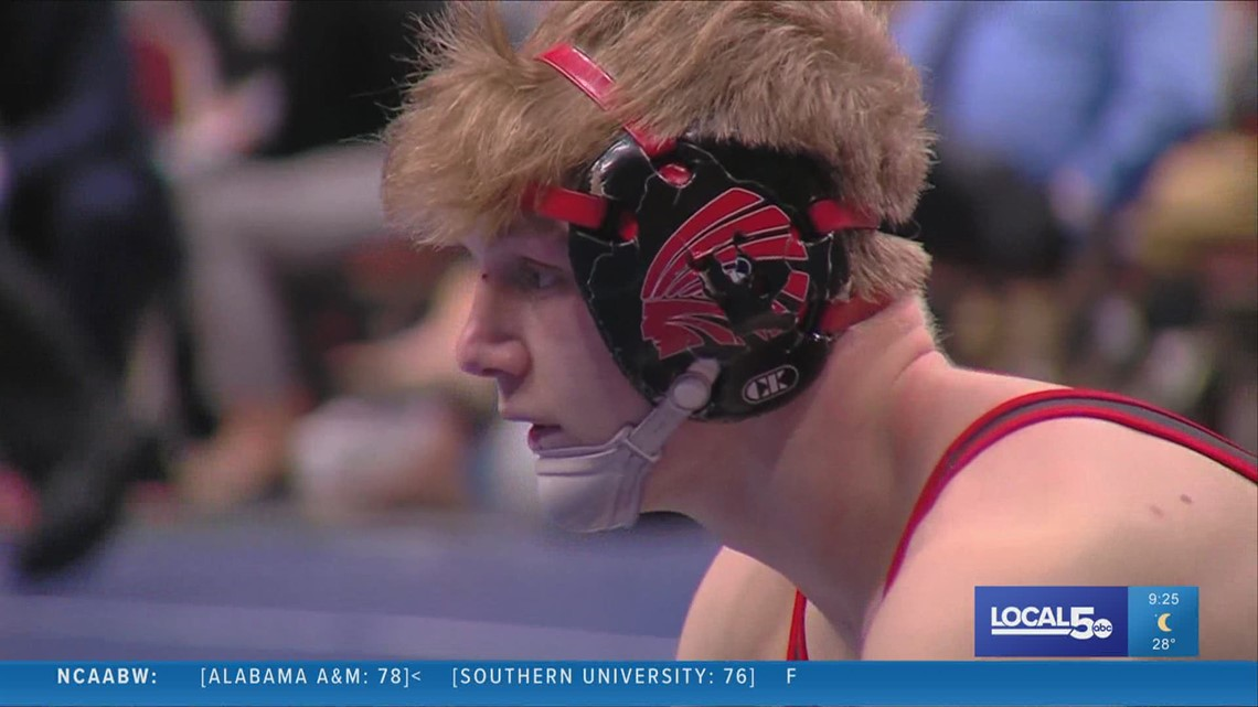 Local 5 Athlete of the Week: Centerville's Matthew Lewis wins 4th state wrestling title