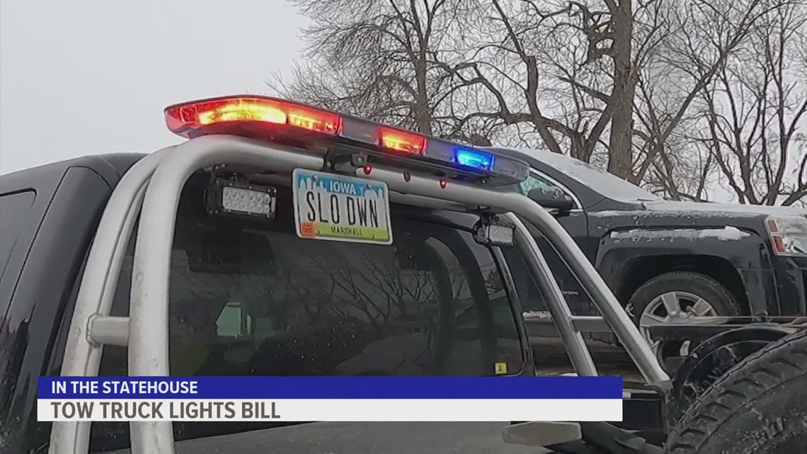 Tow truck drivers in Iowa hope to shine a light on a proposed bill