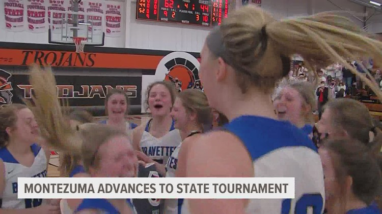 Montezuma tops Collins-Maxwell for a return to 1A Girls State Basketball Tournament