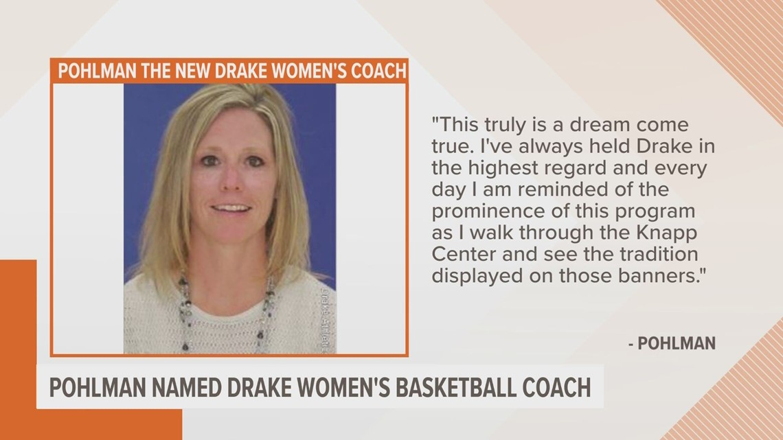 Allison Pohlman to lead Drake's women basketball team
