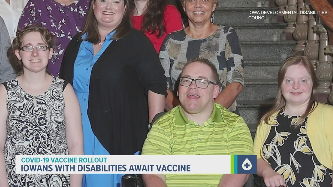 Families breathe sigh of relief as Iowans with disabilities are next in line for vaccine