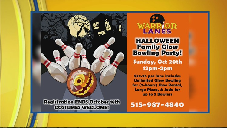 SPOOKY FUN things happening at Warrior Lanes on October 20th