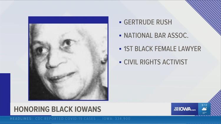 Celebrating Black Iowans: Gertrude Rush