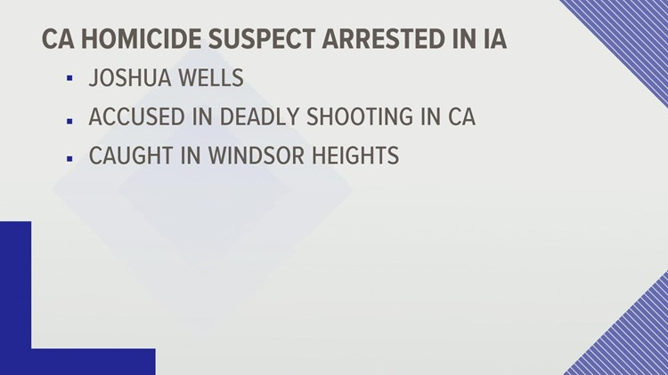 California man suspected in double killing arrested in Windsor Heights