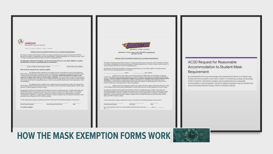 COVID in Iowa: How do medical and religious exemptions work with mask mandates?