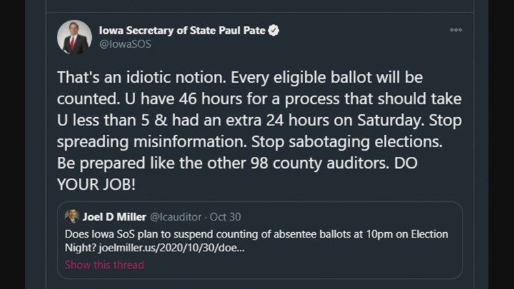 Yes, eligible absentee ballots will still count after Election Day