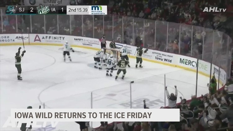 The puck for the Iowa Wild drops for the first time in almost a year