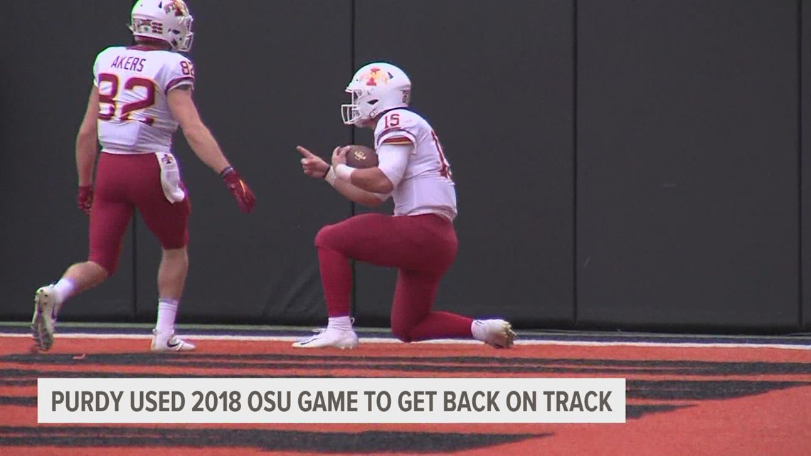 Brock Purdy reflects on 2018 OSU game as Cyclones ready to face them this weekend