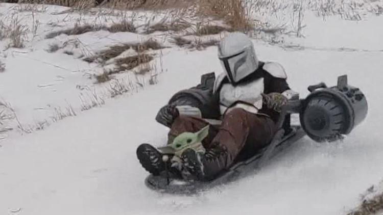 Winterset YouTuber takes sledding to a galaxy far, far away