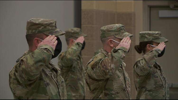 Iowa National Guard holds welcome home and farewell ceremonies
