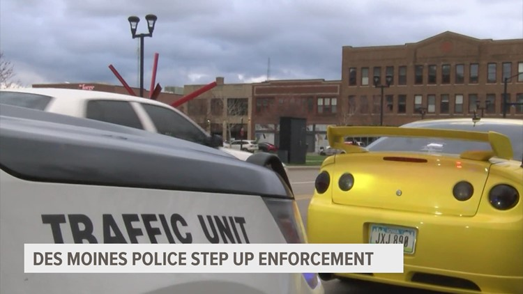 Des Moines police, city leaders try to hit the brakes on 'scooping the loop'