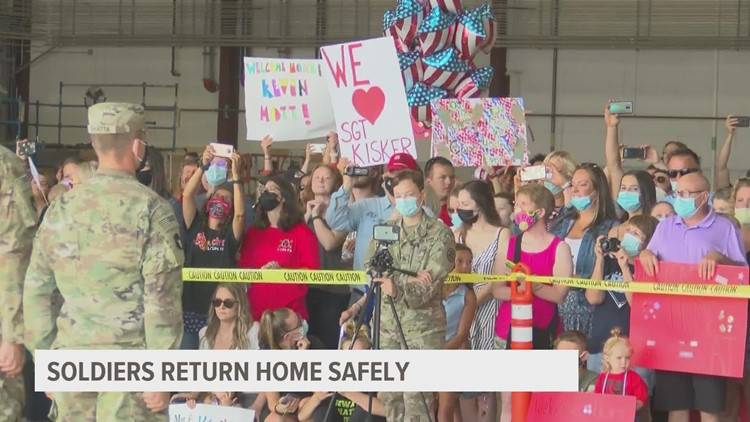Iowa National Guard soldiers welcomed home