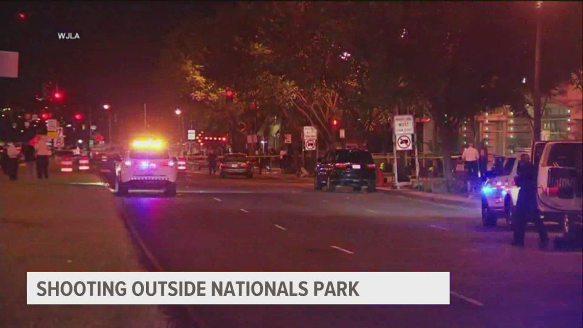 Fans sent scurrying after a triple shooting outside Nats Park during a game | Police search for vehicle of interest