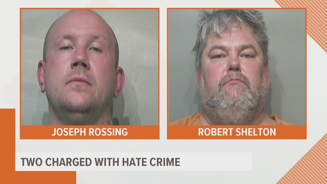 Two men charged with a hate crime