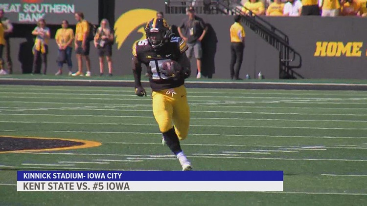 No. 5 Iowa defeats Kent State for 300th win at Kinnick