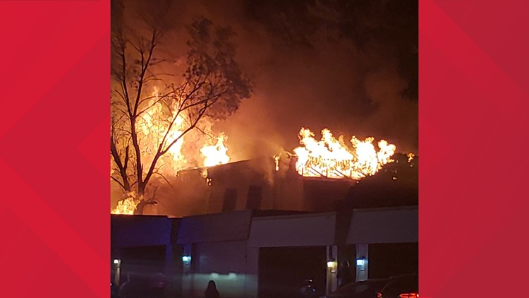One injured, four condos destroyed in Windsor Heights fire, officials say