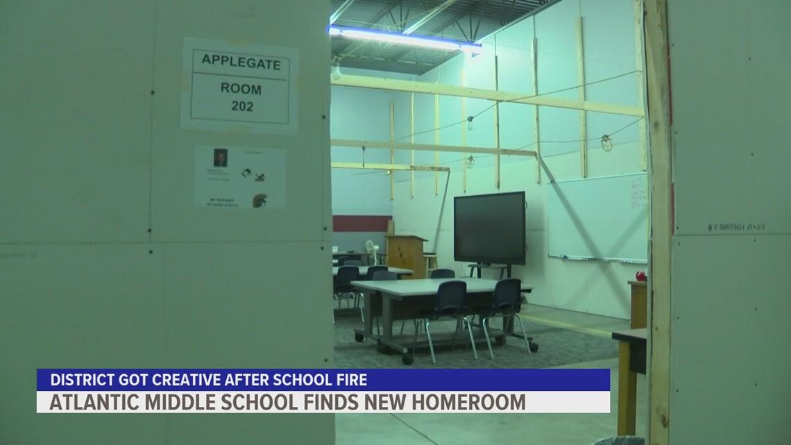 Atlantic Middle School starts fall classes in unusual locations