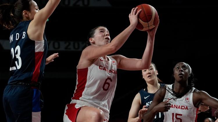 Canadian women beat South Korea 74-53, Bridget Carleton leads all scorers
