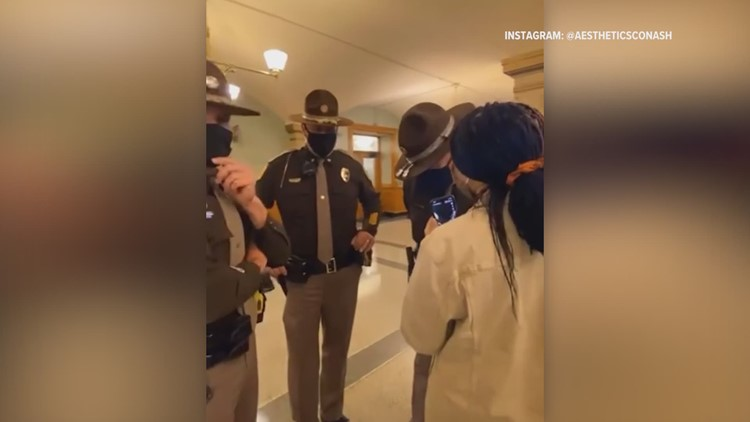 'That's excessive force': California woman captures Norwalk teen's arrest at Iowa Capitol on video