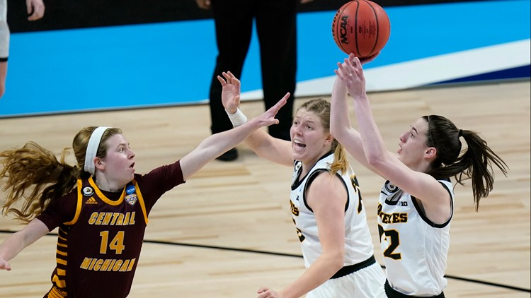 Clark shines in her NCAA Tournament debut, Iowa eases by CMU