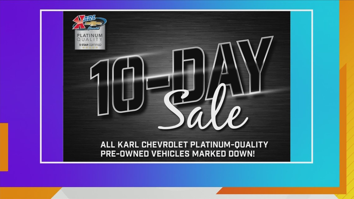 FINAL DAYS of Karl Chevrolet 10-Day Sale on Pre-Owned Vehicles!