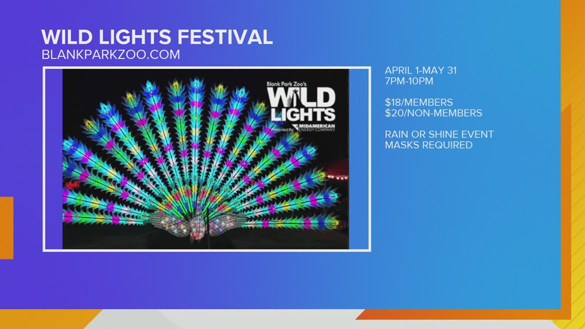 Shamrocks & Shells for St Patrick's Day and Wild Lights Festival starts April 1st...No Foolin!