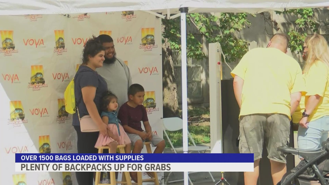 'Back to School Bash' prepares Des Moines kids for a new school year