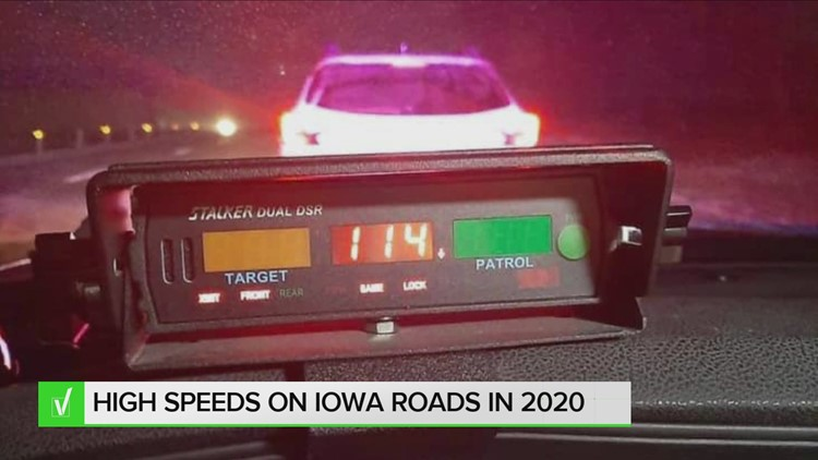 VERIFY: Highway speeding in Iowa broke records in 2020