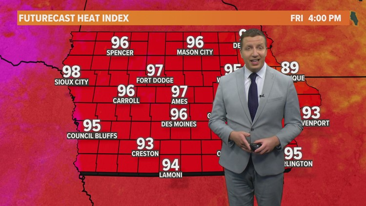 LOCAL 5 FORECAST: Heat continues for the last week of July