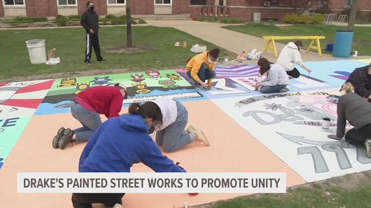 Moving forward together: Drake Relays tradition of painting Carpenter Avenue back on for 2021