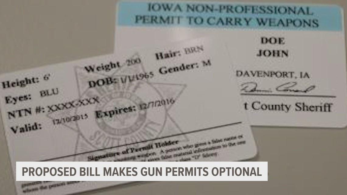 Bill that would make gun permits optional passes Senate, heads to Reynolds' desk