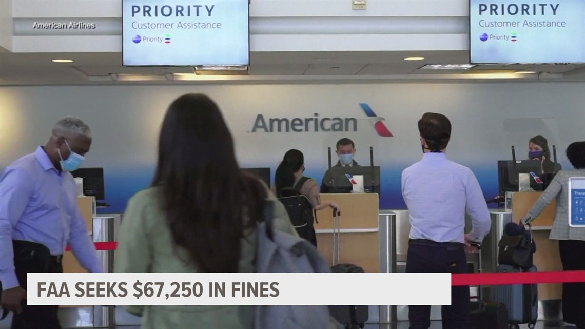 Passengers who flouted mask rules face thousands in fines, FAA says
