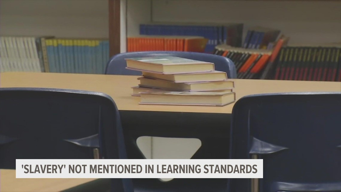Iowa's social studies standards don't contain the word 'slavery,' but that doesn't mean it's not being taught