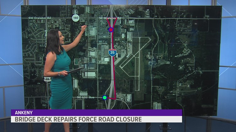 SE Corporate Woods Drive ramp to I-35 will close July 6-23