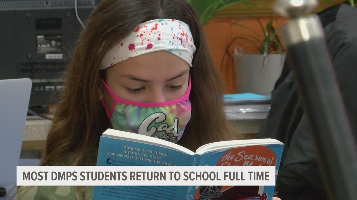 DMPS students return to the classroom following cold weather delay