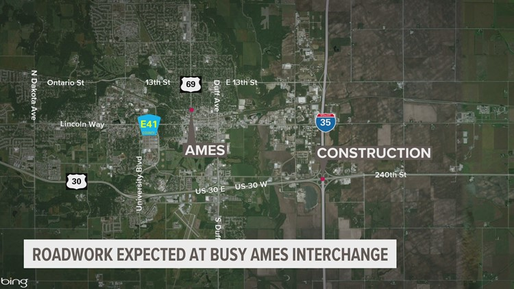 Ramp closures on north, southbound I-35 at US 30 interchange begins Tuesday night