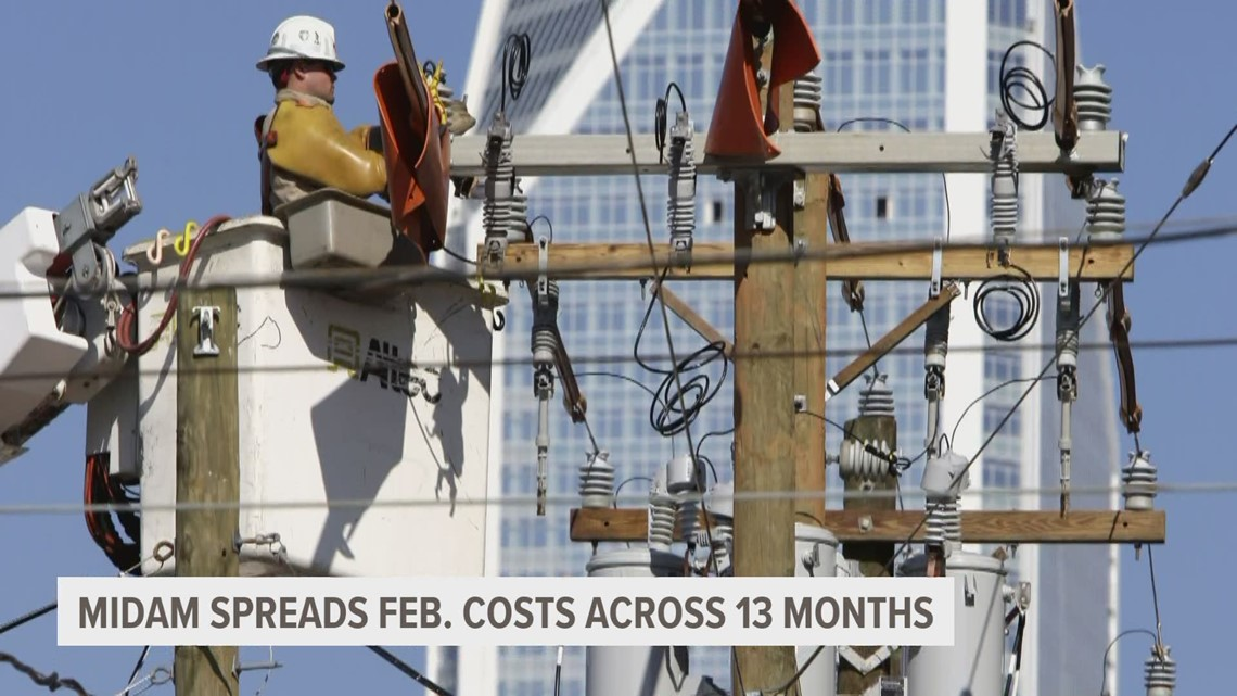 MidAmerican Energy spreading out extra cost through April 2021